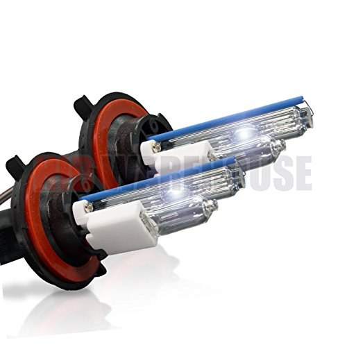HID-Warehouse HID Xenon Replacement Bulbs - H13 / 9008 6000K - Light Blue (1 Pair) - 2 Year Warranty