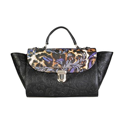 Versace Jeans borsa femme noire E1VOBBI1 75352 899 embossata panicule imprimé nouvelle collection automne hiver 2016 2017