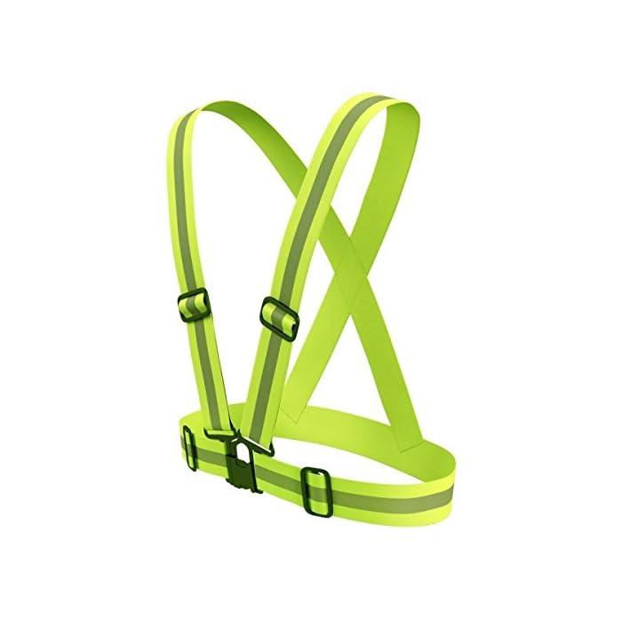 Ohuhu Ajustable Reflectante Chaleco/Chaleco de Seguridad con Alta Visibilidad para Running, Ciclismo y Paseos (1 Paquete)