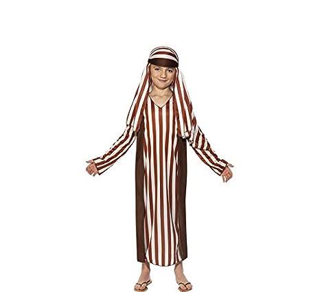 Smiffys Disfraz de Pastor a Rayas para niño