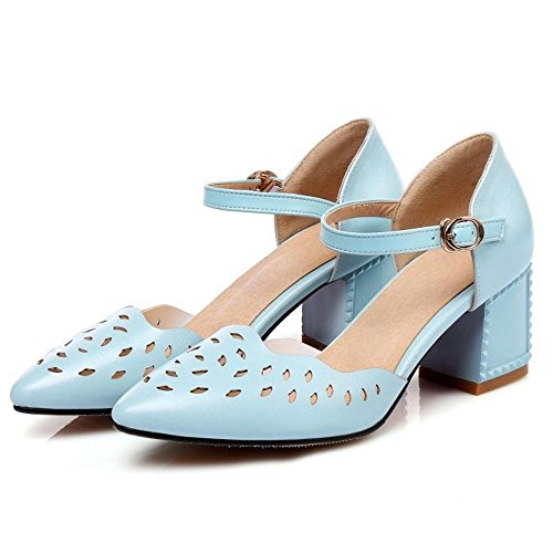Chiuse Estate Sandali Vestito Blue TAOFFEN Light Donna Tacco tqCIxZw