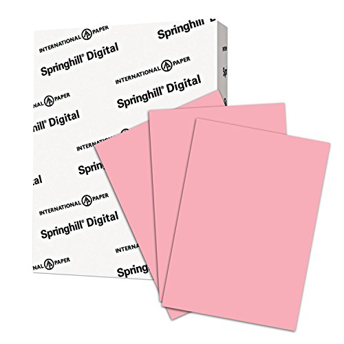 - Springhill Colored Paper, Heavy Paper, Pink Paper, 24/60lb, 89gsm, 8.5 x 11, 1 Ream / 500 Sheets - Opaque, Thick Paper (024042R)