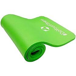 Tappetino da ginnastica »Yamuna« / EXTRA spesso e morbido, ideale per pilates, ginnastica e yoga/ dimensioni: 183 x 61 x 1,5cm / verde