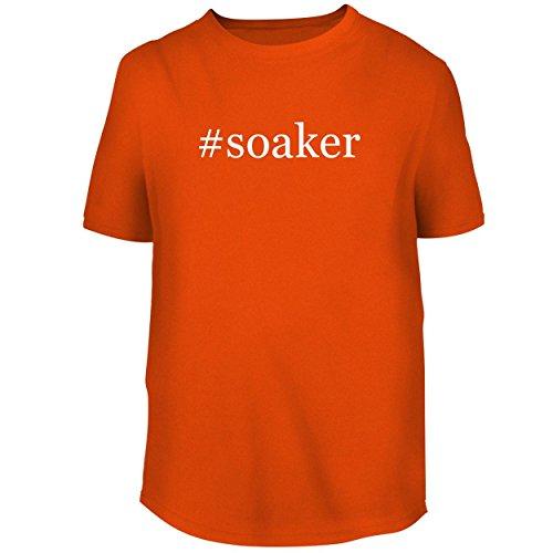 (BH Cool Designs #Soaker - Men's Graphic Tee, Orange, Large)