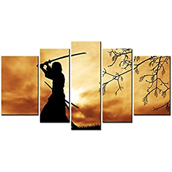 Amazon.com: SmartWallArt - Figure Series Home Decor Artwork Bushido ...
