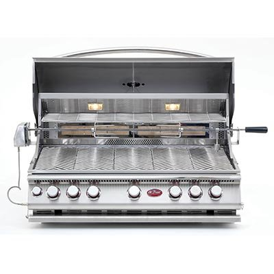 Cal Flame 5 Burner (Cal Flame® 5 Burner Exclusive Convection Oven Grill with Infrared Rotisserie Backburner)