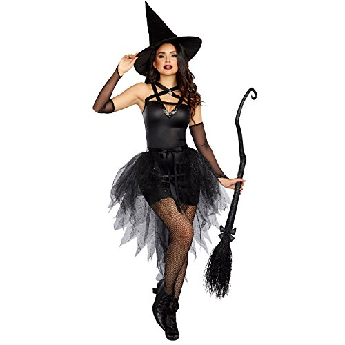 Dreamgirl Women's Wicked Witch, Black,