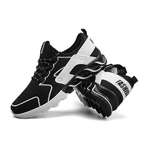 del talón de al Hombres de Moda Zapatos Planos la Libre los atléticos Deportivos Plano Negro Aire v7awqza