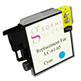 Sophia Global VACSGA000383 Compatible Ink Cartridge Replacement for Brother LC61, 1 Cyan Ink