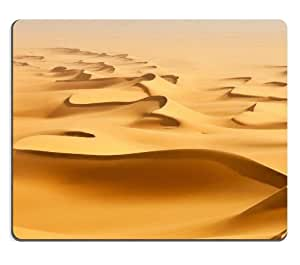 Wavy Sand Hot Desert Scenery Mouse Pads Customized Made to Order Support Ready 9 7/8 Inch (250mm) X 7 7/8 Inch (200mm) X 1/16 Inch (2mm) High Quality Eco Friendly Cloth with Neoprene Rubber Luxlady Mouse Pad Desktop Mousepad Laptop Mousepads Comfortable Computer Mouse Mat Cute Gaming Mouse pad by icecream design