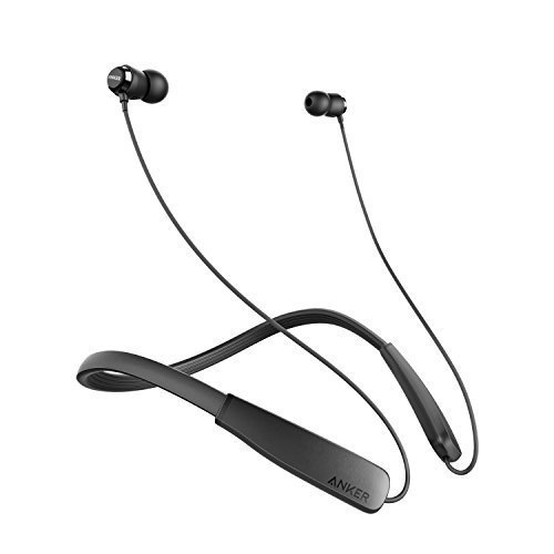 Anker SoundBuds Lite Bluetooth Headphones, Wireless Lightweight Neckband Headset, IPX5 Water Resistant Sport Earbuds with CVC 6.0 Noise Cancelling and Built-in Mic
