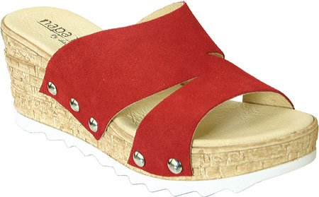 David Tate Womens Milano Sandal Red
