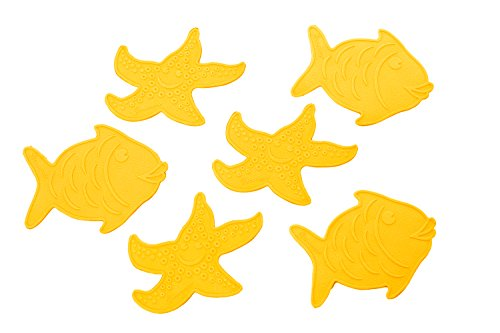 Stork Mini Bath Suction Mats 6 Pack-Colors May Vary -
