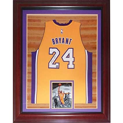 706e1b0c344e Kobe Bryant Autographed Signed Auto Los Angeles Lakers Yellow  24 ...