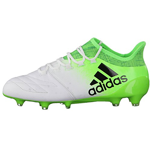 adidas X 16.1 Leather Fg, Scarpe per Allenamento Calcio Uomo, Bianco (Ftwbla/Negbas/Versol), 43 EU