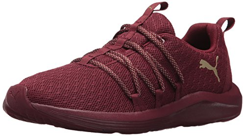 PUMA Women's Prowl Alt Knit Mesh Wn Sneaker cordovan-metallic gold 8.5 M US
