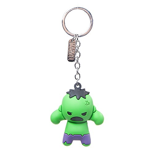 Official Marvel Comics Incredible Hulk Character 3D Rubber Keychain | Green