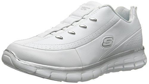 Skechers Sport Women Elite Class Fashion Sneaker White/Silver