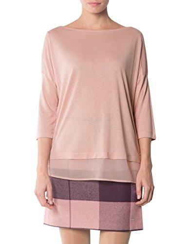 Tommy Hilfiger Damen Top Mikrofaser Shirt Unifarben, Größe L, Farbe Rosa  Farbe Rosa Größe L