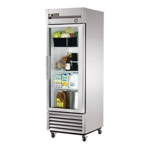True T-23G - 27 Reach-In Refrigerator - 1 Glass Swing Door, 3 Shelves -