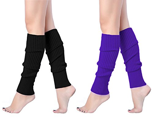 Large Product Image of V28 Women Juniors 80s Eighty's Ribbed Leg Warmers for Party Sports
