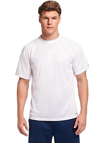 Russell Athletic Men's Dri-Power Performance Mesh T-Shirt, White, XL
