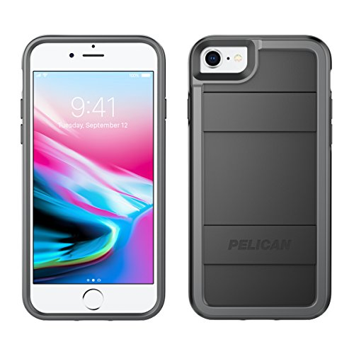 Pelican iPhone Case - fits iPhone 8, iPhone 7, iPhone 6S, iPhone 6 (Black Light Gray)