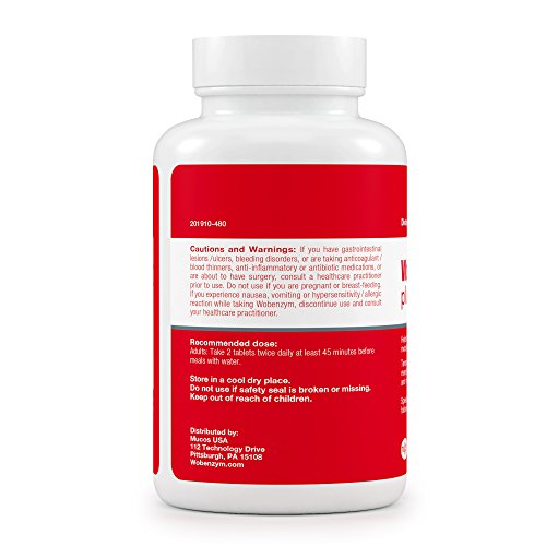Wobenzym - Wobenzym Plus - Number One Joint Health Pill in Germany†*, Supports Joint Function, Muscles and Recovery after Exertion† - 480 Enteric-Coated Tablets by Wobenzym (Image #2)
