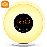 Fiery Youth Sunrise Alarm Clock Wake Up Light with 6 Natural Sounds