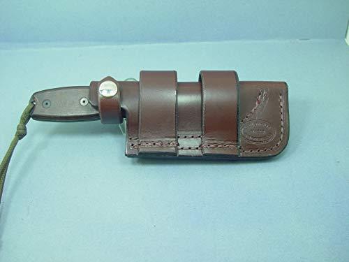 Custom Made Ontario Rat 3 Horizontal Knife Sheath Made Out of Water Buffalo Hide Leather.