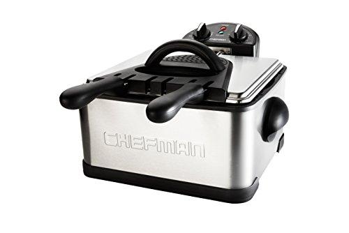 Chefman RJ07-4DSS-T Deep Fryer, 4 L, Stainless Steel