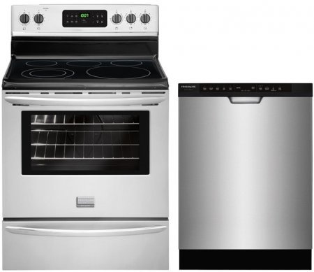 Frigidaire Gallery 2-Piece Smudge Proof Stainless Steel Kitchen Package with FGEF3030PF 30