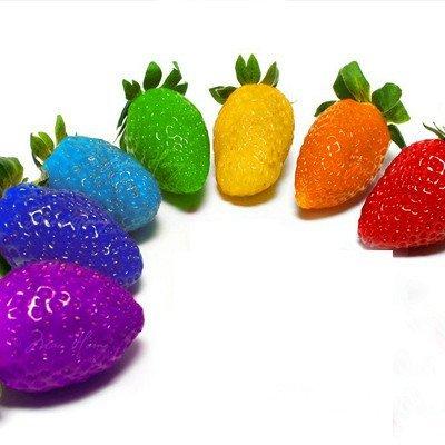 Higarden Fruit Seeds Rainbow Strawberry Seeds Fruit Multi-Color 200 seed/bag : Garden & Outdoor