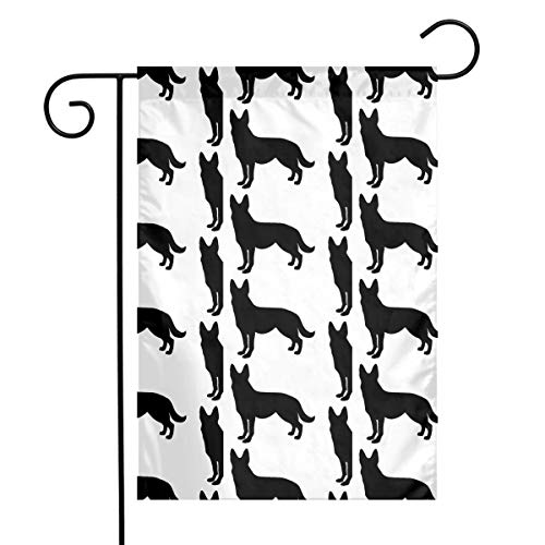 MINIOZE German Shepherd Dog Silhouette Themed Welcome Mailbox Small Jumbo for Outdoor Decorations Ornament Picks Garden House Home Yard Traditional Decorative Front 12