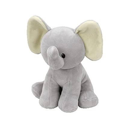 Baby Ty Collection - Bubbles - Gray Elephant, 7""