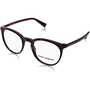 Dolce & Gabbana Men's DG3269 Eyeglasses Striped Red On Bordeaux 51mm