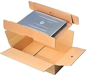 Caja de envío, para ordenador portátil de Embalaje, cartón ondulado, i: 548 x 358 x 120 mm: Amazon.es: Informática