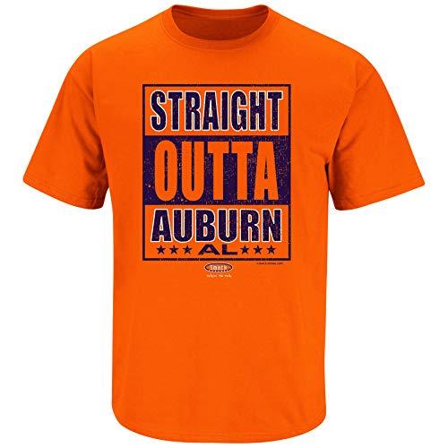(Auburn Football Fans. Straight Outta Auburn Orange T-Shirt (Sm-5X) (Short Sleeve, 2XL))