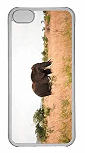 iPhone 5C Case, Personalized Custom Elephant for iPhone 5C PC Clear Case