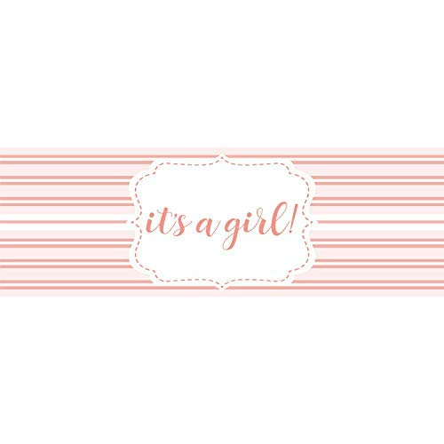- HALF PRICE BANNERS | It's A Girl Vinyl Banner | Mesh Wind Reistant | 3'x6' Pink Stripe | Free Ball Bungees & Zip Ties | Easy Hang Advertising Sign | Baby Shower Decoartion | Various Size | Made in USA