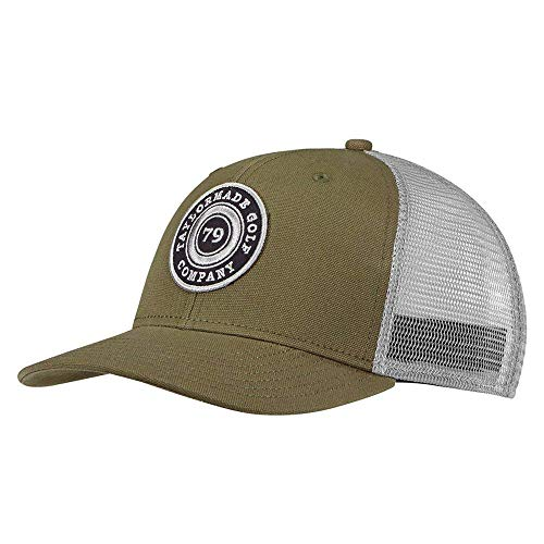 TaylorMade Golf- 2018 Lifestyle Trucker Snapback Hat, Olive/Gray