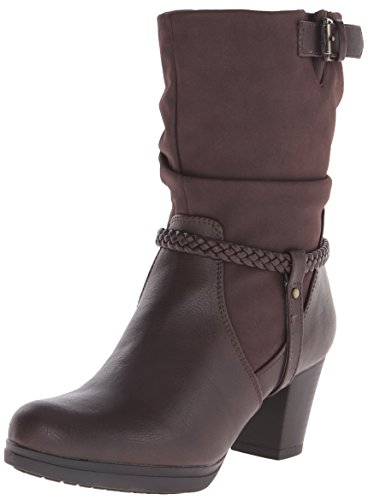 Buckle Dark Chocolate (LifeStride Women's Keynote Slouch Boot, Dark Chocolate, 6.5 M)