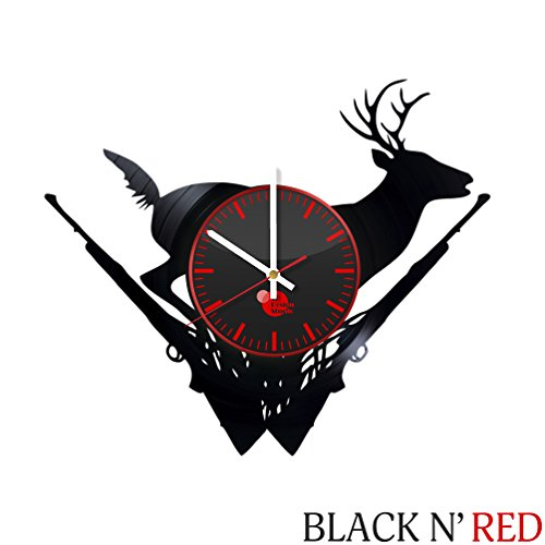 Deer Hunting Vinyl Record Wall Clock - Get unique garage wal