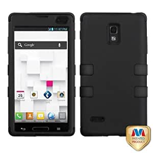 Cerhinu MyBat LGP769HPCTUFFSO001NP Rubberized Rugged Hybrid TUFF Case for LG Optimus L9/Optimus 4G - Retail Packaging...