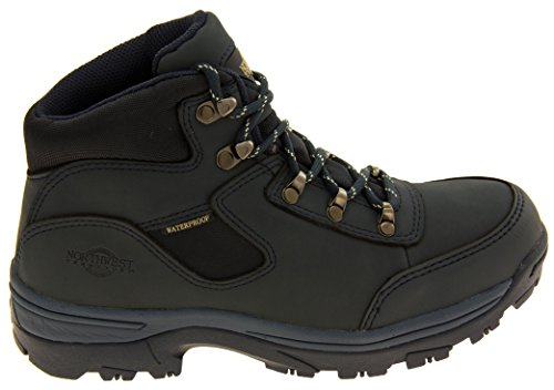 Walking Womens Navy Shoes Boots Blue Northwest Territory Leather Hiking 0n6xw
