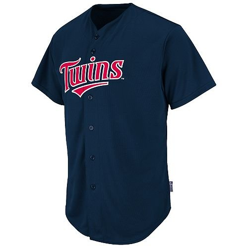 Majestic Athletic Adult 3XL Minnesota Twins Blank Back Major League Baseball Cool-Base Replica MLB Jersey ()