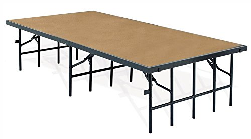 Portable Stage w Hardboard (96 in. W x 36 in. D x 16 in. H) by National Public Seating