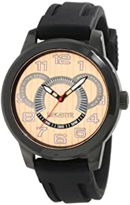Lancaster Men's OLA0458RG-NR-NR Non Plus Ultra Rose Textured Dial Black Silicone Watch