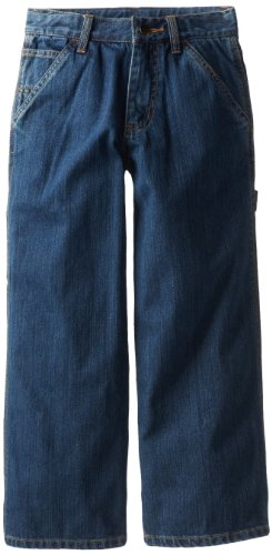 Carhartt Boys' Washed Denim Dungaree Jeans Worn In Blue, 14 ()