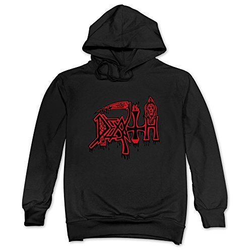 Chuck Schuldiner Death Band Red Logo Hoodie For Man's Black